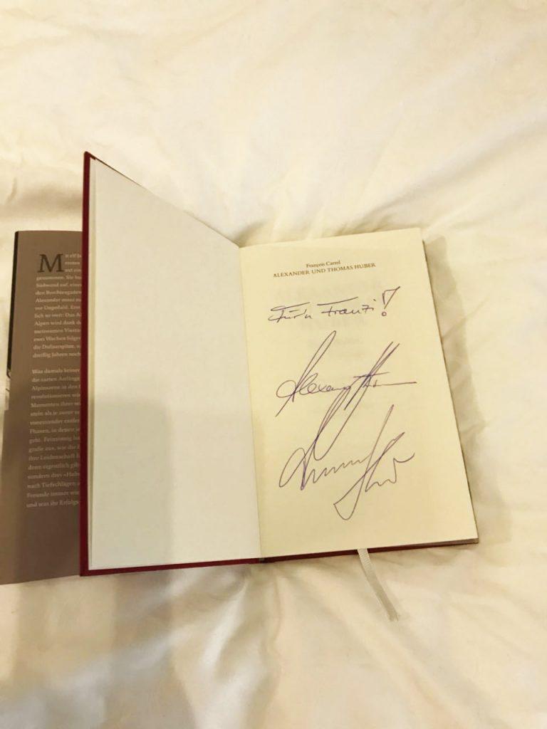 Elektro Bauer_Franz Bauer_Huberbuam_Berchtesgaden_signiertes Buch
