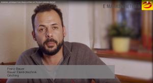 Franz Bauer_Bauer Elektrotechnik über die Vorteile als Premium E-Marken-Betrieb