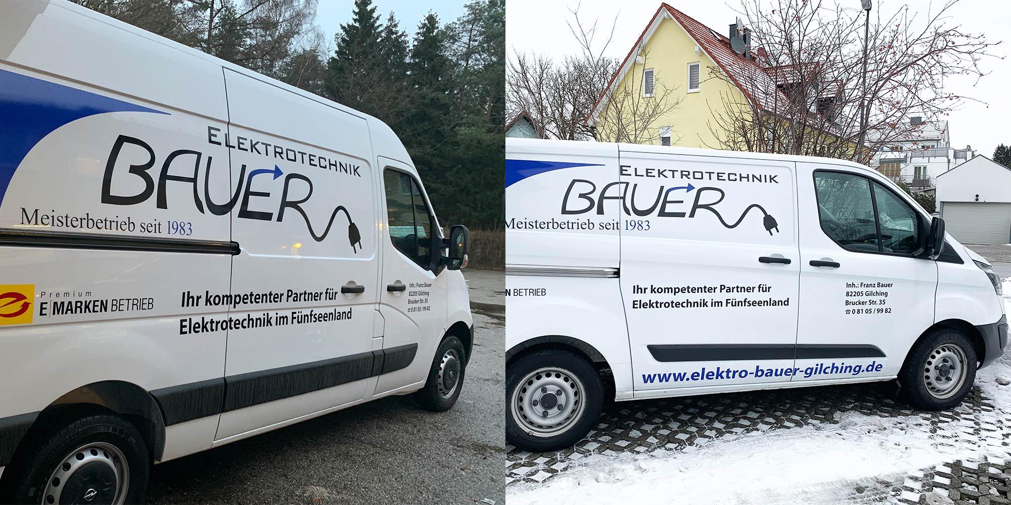 Erweiterung des Fuhrparks bei Bauer Elektrotechnik durch zwei weitere Service-Fahrzeuge