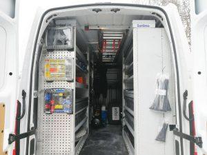 Servicefahrzeug_Bauer Elektrotechnik Gilching_Opel Movano-hinten offen