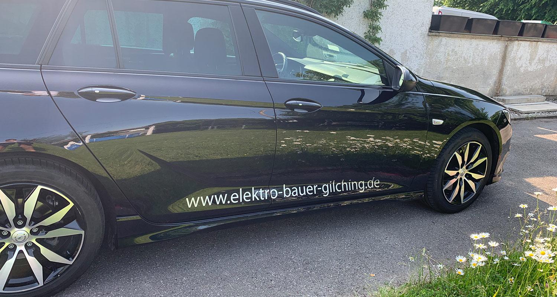 Firmenfahrzeug Opel Insignia 2 - Bauer Elektrotechnik - Ihr Experte für Elektrotechnik in Gilching, Starnberg, Fürstenfeldbruck und München