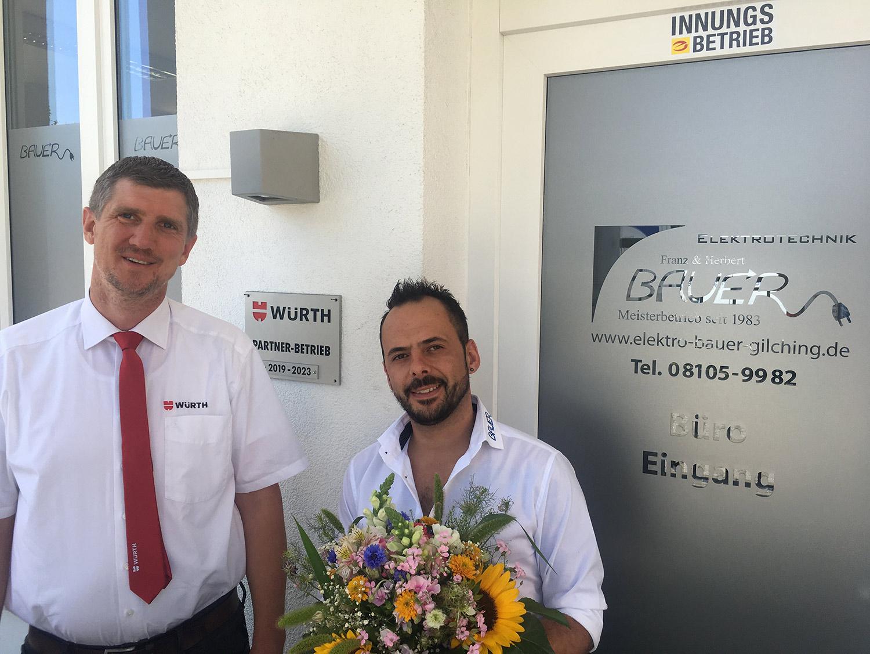 Bauer Elektrotechnik ist Würth-Partner-Betrieb